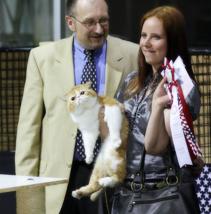 In photo Jesse-exotic, owner Jonna P��tynen and judge Michael Schleissner